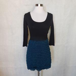 FOREVER 21 ruffled bodycon winter dress